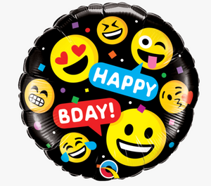 Happy Birthday Emoji Balloon