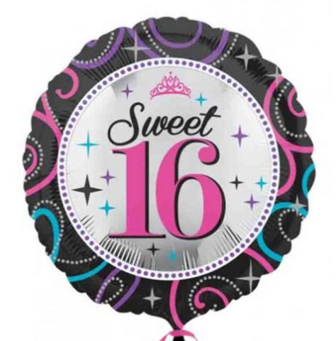 Sweet 16 Sparkle Balloon