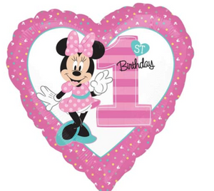 Minnie Mouse 1st Birthday Balloon