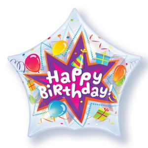 Birthday Party Blast Star Single Bubble Balloon
