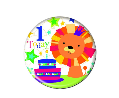 1st Birthday Lion Badge