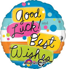 Good Luck and Best Wishes