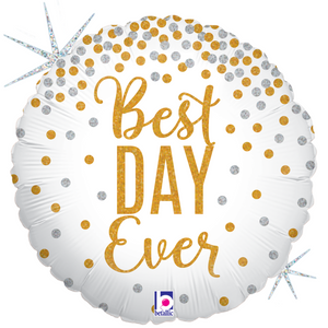 Glittering Best Day Ever Balloon