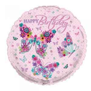 Happy Birthday Butterflies Balloon