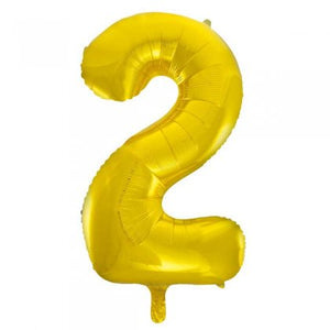 Gold Glitz Number 2 Supershape Balloon