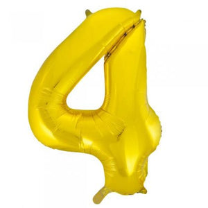 Gold Glitz Number 4 Supershape Balloon