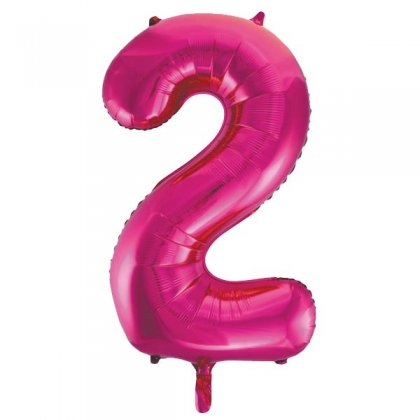 Pink Glitz Number 2 Supershape Balloon
