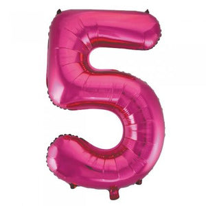 Pink Glitz Number 5 Supershape Balloon