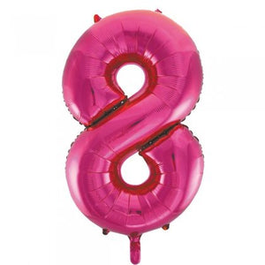 Pink Glitz Number 8 Supershape Balloon