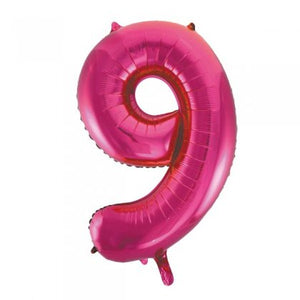Pink Glitz Number 9 Supershape Balloon