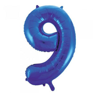 Blue Glitz Number 9 Supershape Balloon