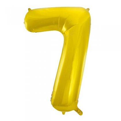 Gold Glitz Number 7 Supershape Balloon
