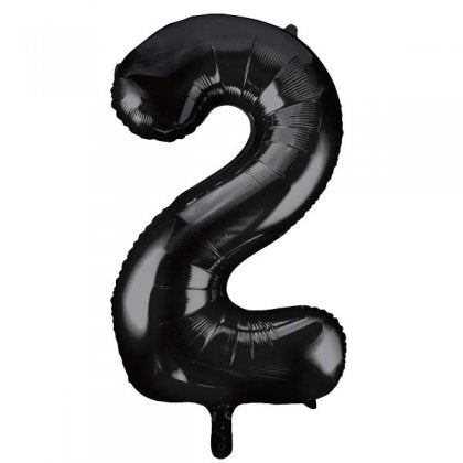 Black Number 2 Supershape Balloon