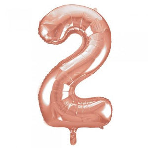 Rose Gold Number 2 Supershape Balloon