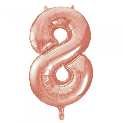Rose Gold Number 8 Supershape Balloon