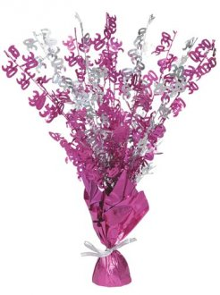 21 Table Centrepiece Pink and Silver