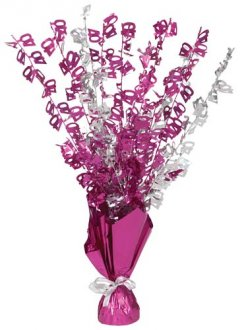 40 Table Centrepiece Pink and Silver