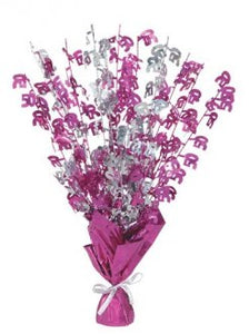 50 Table Centrepiece Pink and Silver