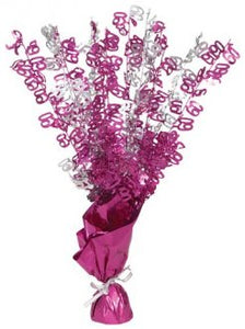 60 Table Centrepiece Pink and Silver