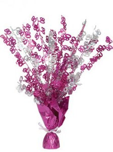 80 Table Centrepiece Pink and Silver