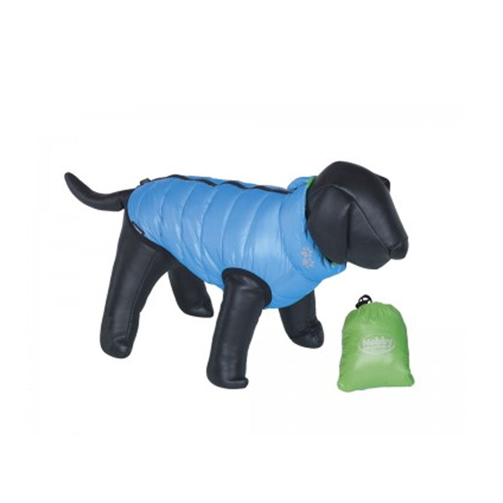 Hundemantel light grün-blau 36 cm
