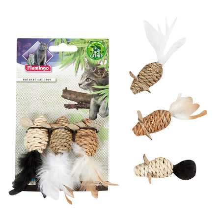 Nature Cattoy Woven Mice