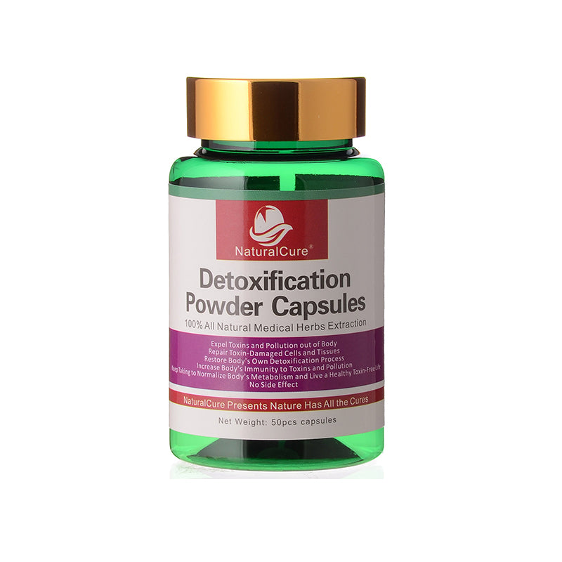 NaturalCure Detoxification Powder Caps-ules, Expel Toxin, Waste and Pollution from Your Body, Cleanse Your Organs Safely