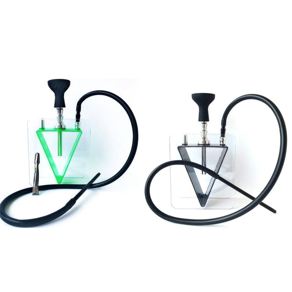 Transparent Glass Hookah Set