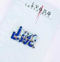 BLUE just LOVE Enamel Pin