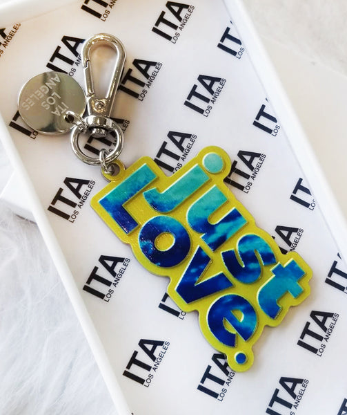 just Love Key Chain Yellow