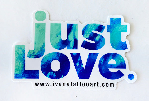 just LOVE Sticker Blue 2