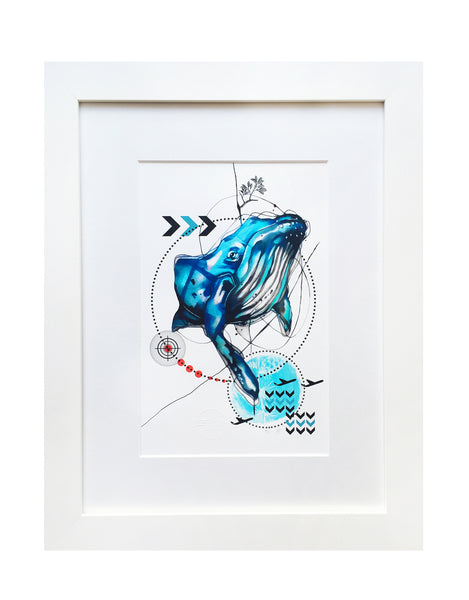 BLUE WHALE (FRAMED)