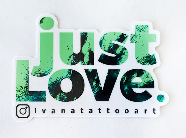just LOVE Sticker Green