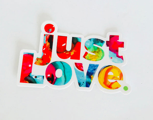 just LOVE Sticker Colorful