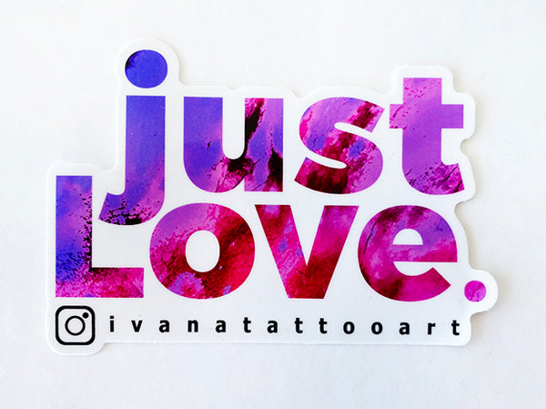 just LOVE Sticker Purple/Pink