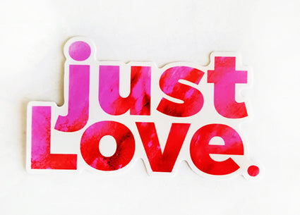just LOVE Sticker Pink