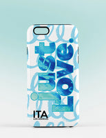 JUST LOVE BLUE iPhone Case