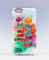 JUST LOVE COLORFUL iPhone Case