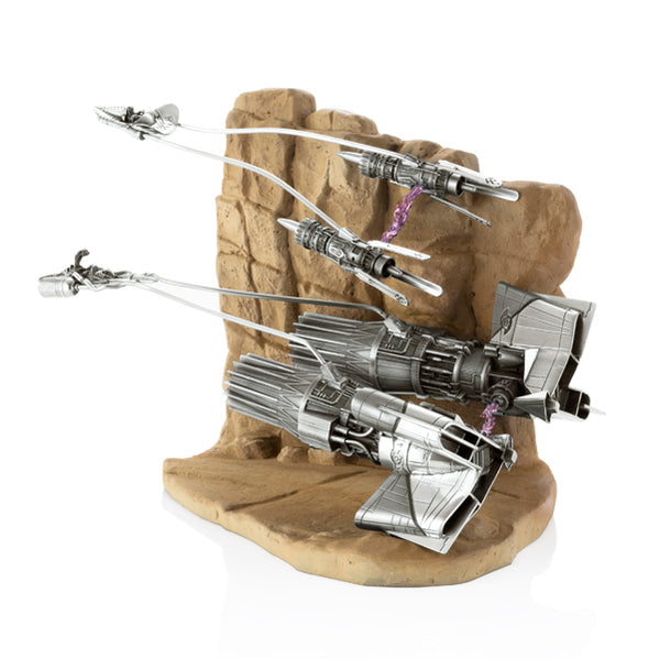 Royal Selangor Hand Finished Star Wars Collection Pewter Limited Edition Podracer Diorama