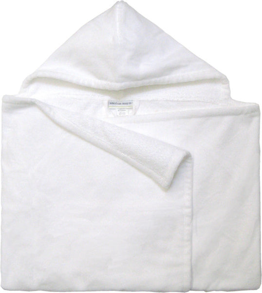 Kids Hooded Towel - White