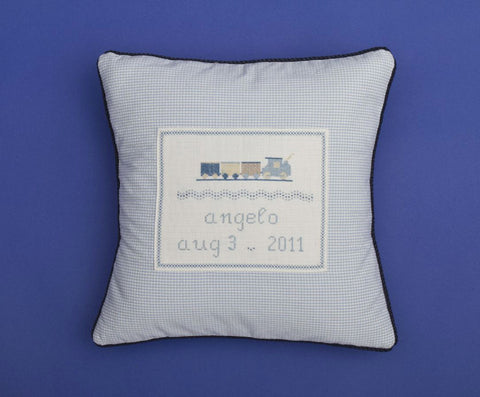 Trains Personalized Pillow