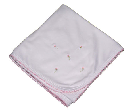 Baby Blanket with Rosebuds