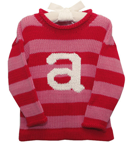 Cotton Striped Sweater with Initial