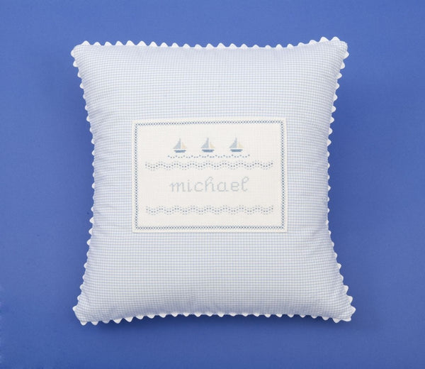 Sailboat Personalized Pillow