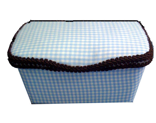 Baby Blue Gingham Wipe Box