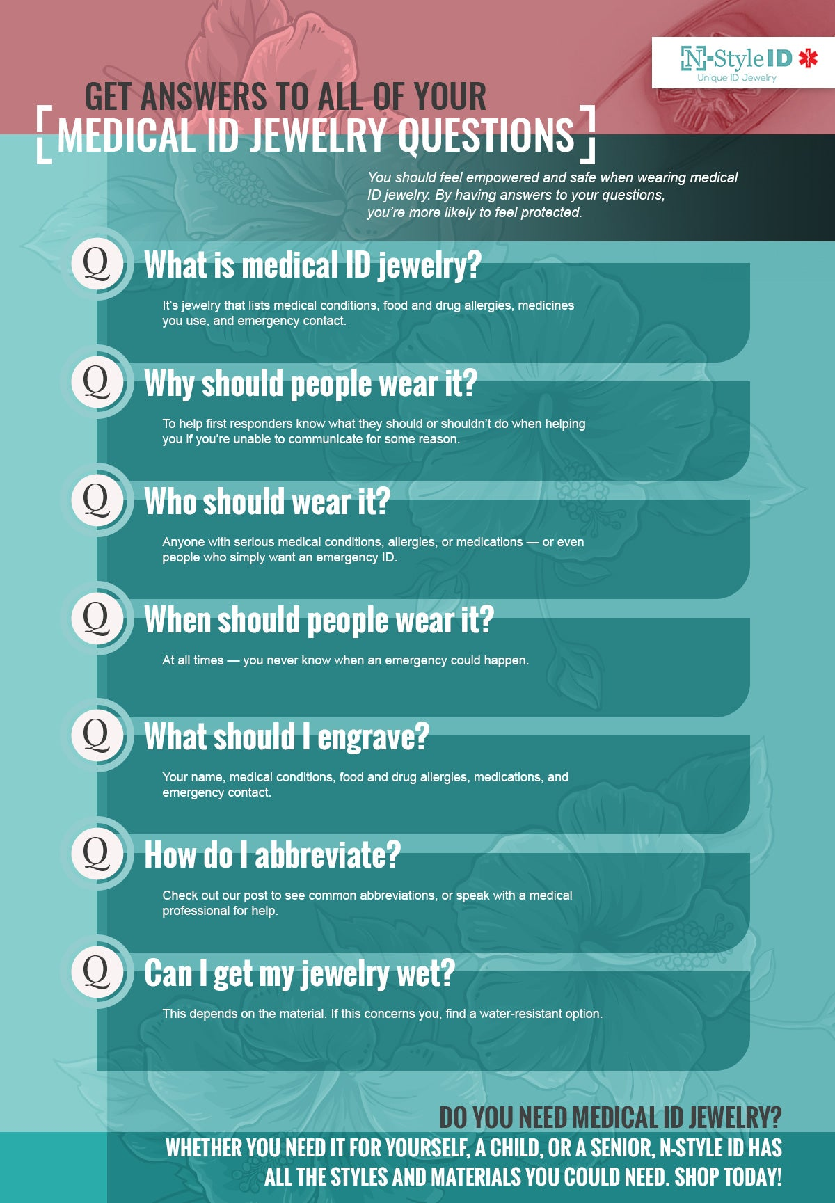 medical id jewelry questions