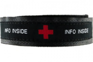 Medical IDs are for me and a popular option is the N-Style ID's sport band.