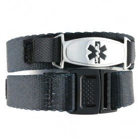 The Brawny Black Medical ID band is a great choice for men.