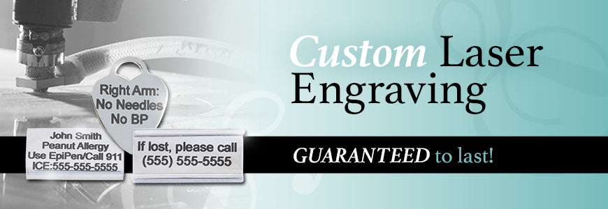 custom laser engraving medical id bracelets
