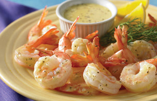 Shrimp Marinated in Lime Juice and Dijon Mustard